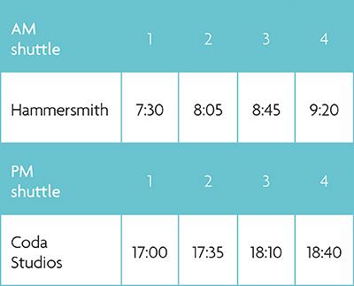 Coda Connect Timetable
